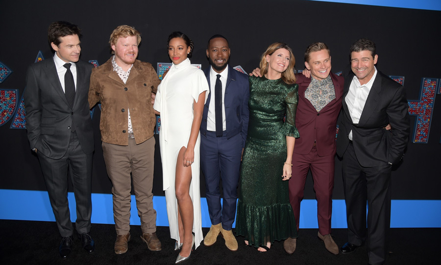 The cast of <i>Game Night</i>, Jason Bateman, Jesse Plemons, Kylie Bunbury, Lamorne Morris, Sharon Horgan, Billy Magnussen and Kyle Chandler, came together for their L.A. premiere in style. Their co-star Rachel McAdams was noticeably absent. 
