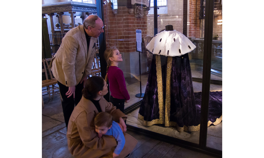 "Crown Princess Victoria of Sweden had her hands full while visiting the ""Vivat Regina"" exhibit. The future Queen was joined by her young children — Princess Estelle and Prince Oscar — during the February 22 outing. The exhibit features items from Queen Christina's 1650 coronation. 