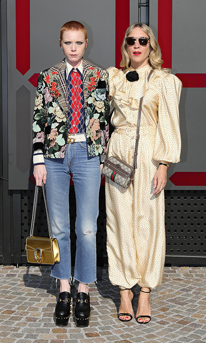 Model-musician Lissy Trullie and actress Chloe Sevigny looked very chic at the Gucci show.