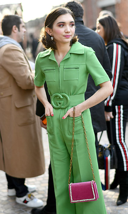 Actress Rowan Blanchard's cool style at Gucci had us green with envy. 