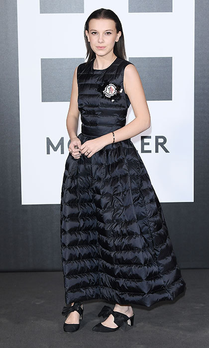 Also at Moncler's gathering, <I>Stranger Things</I> star Millie Bobby Brown already proved that puffer dresses will be next season's hottest and most fashion-forward trend. 