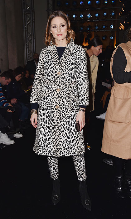 Animal print is clearly all the rage! Olivia Palermo was also spotted – literally – at Max Mara's Fall/Winter presentation. 