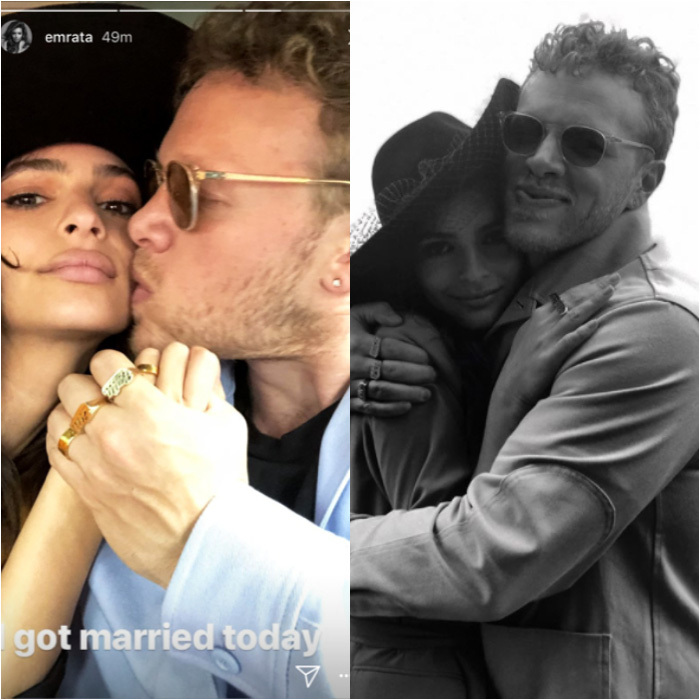<b>Emily Ratajkowski and Sebastian Bear McClard</b>