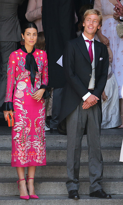 The groom's brother Prince Christian of Hanover and his fiancee Alessandra de Osma also attended the wedding. The couple may have been thinking of their own nuptials, as they held their civil cermony in November 2017, and are set to say their religious vows in a royal wedding in 2018. 