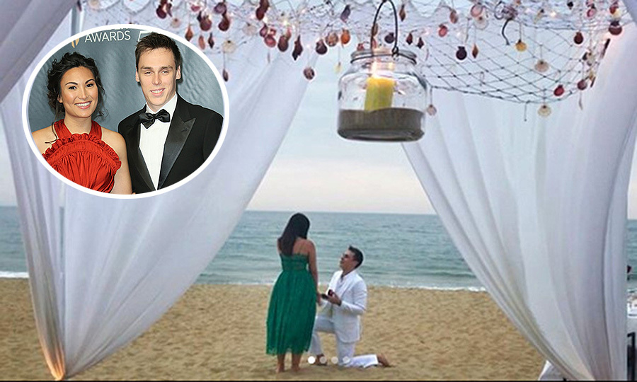 "<b>The engagement:</b> On February 21, 2018, The Prince's Palace of Monaco released a statement reading: ""S.A.S. Princess Stephanie is pleased to share with you the engagement of her son Louis Ducruet with Miss Marie Chevallier."" But we were able to see the moment itself, which took place on a beach at Vietnam's Four Seasons Resort The Nam Hai, thanks to the bride and groom's social media accounts! Prince Albert's nephew posted the engagement to Instagram, writing, ""Let me introduce you the future madame Ducruet ❤️ she said yes and we are now engaged  #withlove #engagement #proposal #iloveyou @mariehoachevallier."" 