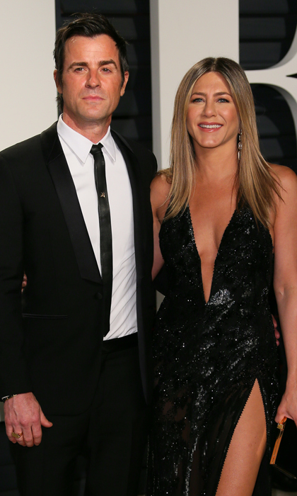 <b>Jennifer Aniston and Justin Theroux</b>
