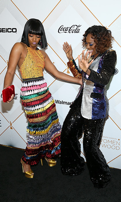 Tiffany Haddish, in Alice & Olivia, and <I>Insecure</I>'s Yvonne Orji got into the swing when they arrived. 