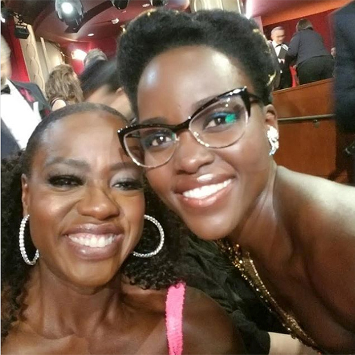 Oscar winners Viola Davis and Lupita Nyong'o flashed their smiles for this fab selfie at the ceremony.