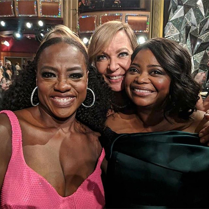 Viola also co-starred in this snap with her <I>The Help</I> co-stars, Octavia Spencer and Allison Janney. With Allison's win at the 2018 Oscars, all three are Academy Award winners.