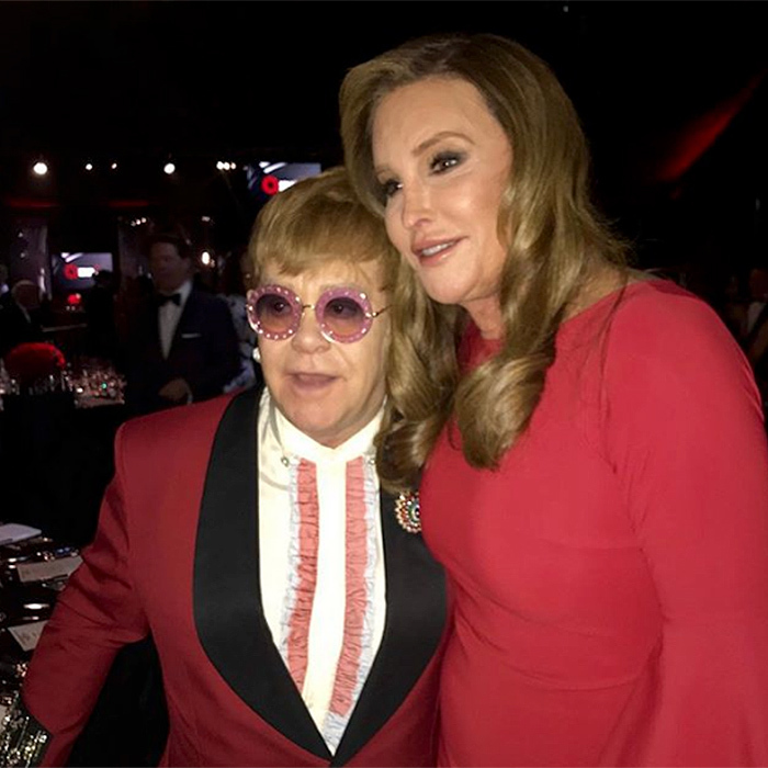 "Caitlyn Jenner turned out to support Elton John at his annual Oscar night fundraiser for the Elton John AIDS Foundation. !Always a great time seeing my friend @eltonjohn while supporting the amazing work that @ejaf is doing,"" she wrote.