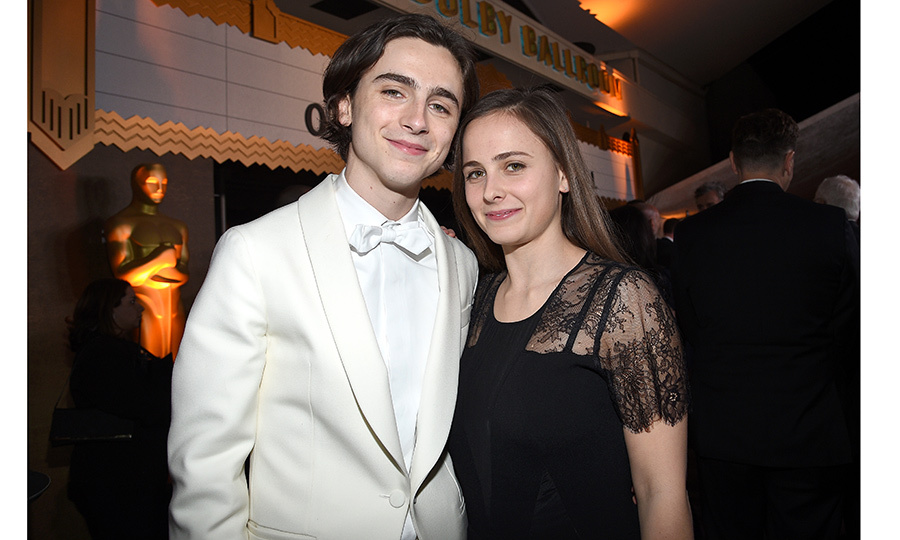 Timothee Chalamet brought sister Pauline as his date to both the ceremony and the 90th Annual Academy Awards Governors Ball. 
