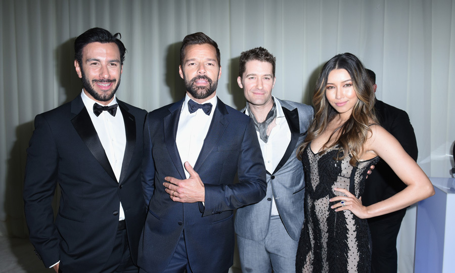 Over at the <b>Elton John Foundation's annual Oscars screening</b>, Ricky Martin and his squad, which included husband Jwan Yosef, Matthew Morrison and Renee Puente, showed off their style.