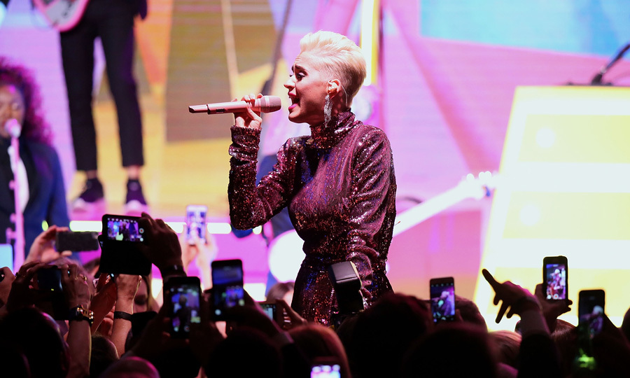 Katy Perry made the crowd roar during her performance at the <b>Byron Allen and Entertainment Studios Oscar Gala</b> sponsored by Heineken. Jamie Foxx also took over the microphone at the end of the the viewing party that was thrown in support of Children's Hospital Los Angeles. He asked all the women to join him on the dance floor as the deejay played Beyonce's <i>Run the World</i>.