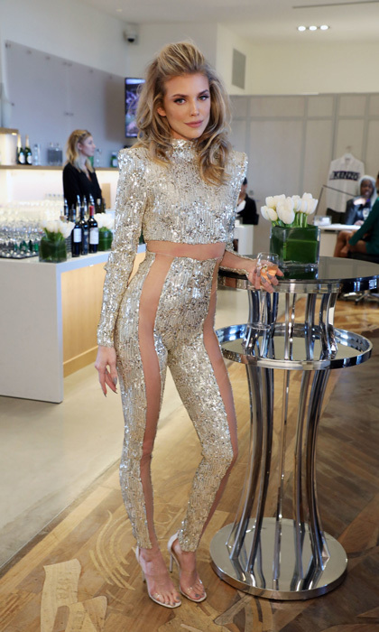 Prior to attending Elton John's Oscars viewing party, Annalynne McCord stopped by the Nordstrom Local Los Angeles for their screening.