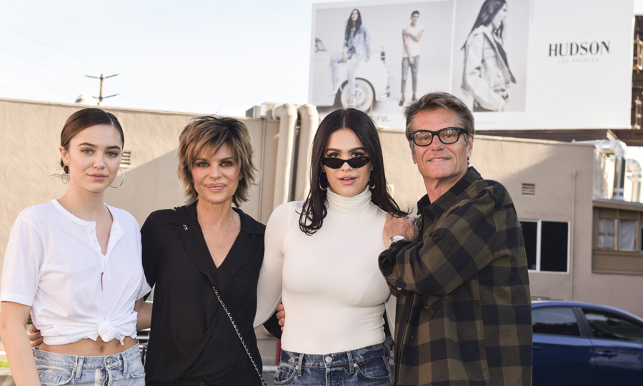 Lisa Rinna and Harry Hamlin's youngest daughter Amelia Gray was front and center during her Hudson Jeans billboard unveiling. The 16-year-old was joined by her parents and her older sister Delilah Belle.