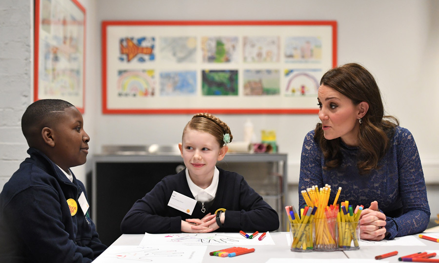 "The Duchess of Cambridge visited the new headquarters of children's mental health charity Place2Be where she officially opened their Center of Excellence. During the outing on March 7, Kate spoke with pupils from nearby Albion Primary School who were taking part in an exercise on ""friendship"" which is part of the latest training for school-based counseling.
