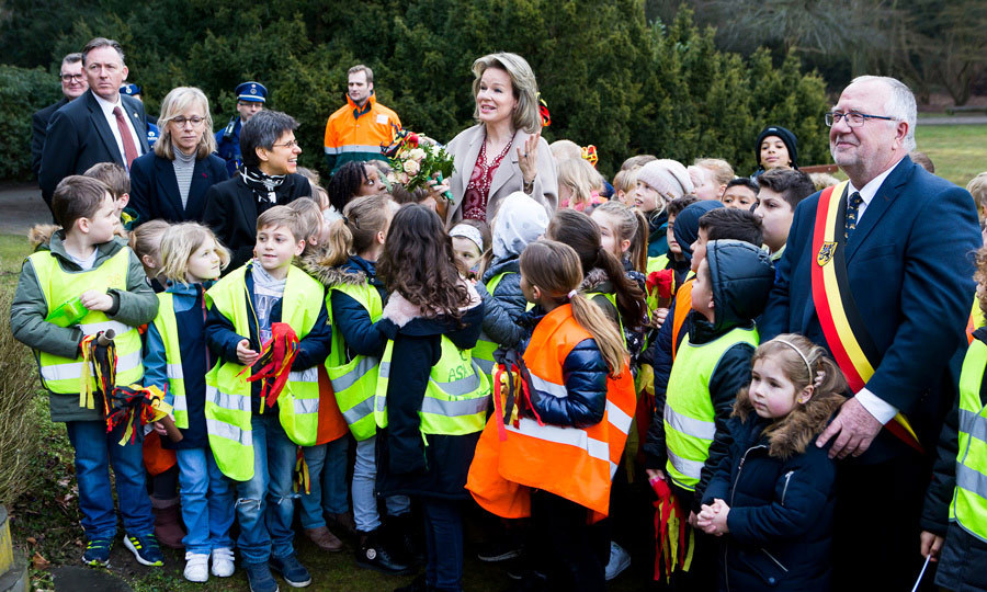 It was a day of fun for Queen Mathilde of Belgium, who spent some time with children and the mayor of Wijnegem, Ivo Wynants, during a visit to the WCU-DANCE (World Children United Dance - We See You Dance) project on March 6.