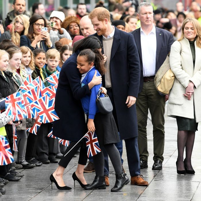 Meghan Markle and her fiancé Prince Harry stepped out for a morning of official engagements in Birmingham, England, for International Women's Day on March 8. While meeting some of their royal supporters, the former <i>Suits</i> star shared a special moment with a 10-year-old girl.