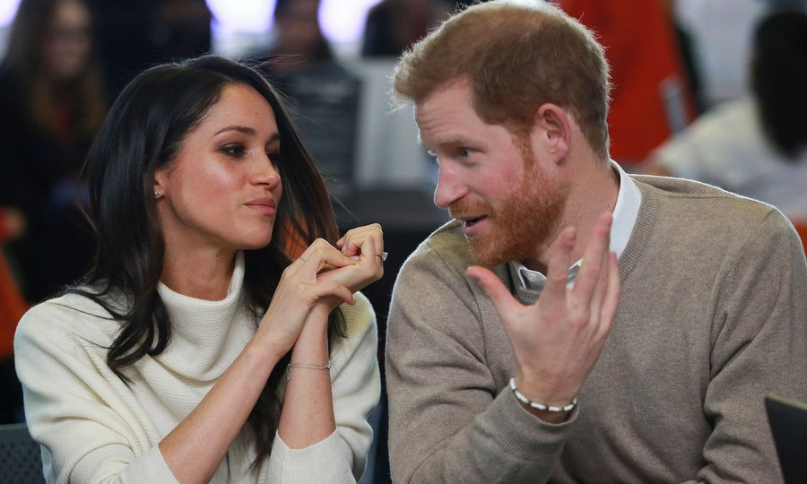 Harry and Meghan sat closely shoulder to shoulder as they chatted during an event hosted by social enterprise Stemettes.