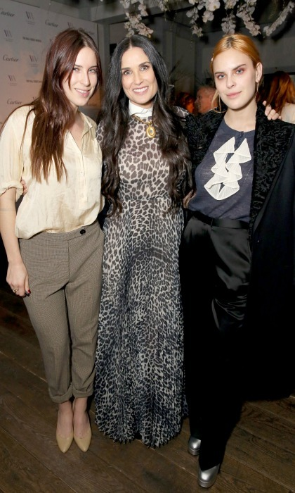 Demi Moore had the support of her daughters Scout and Tallulah Willis at the Visionary Women's in Celebration of International Women's Day event on Thursday, March 8 in Beverly Hills. The 55-year-old talent was honored by the non-profit which is dedicated to advancing the status of women and creating a unique forum for women leaders across various fields to connect around important topics impacting women today.