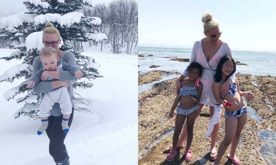 Katherine Heigl and her family swapped snow for sunshine! The actress and her husband Josh Kelley jetted off to Mexico with their children Naleigh, 9, Adalaide, 5, and Joshua, 1, and Katherine's 15-year-old niece Madison, who lives with them.