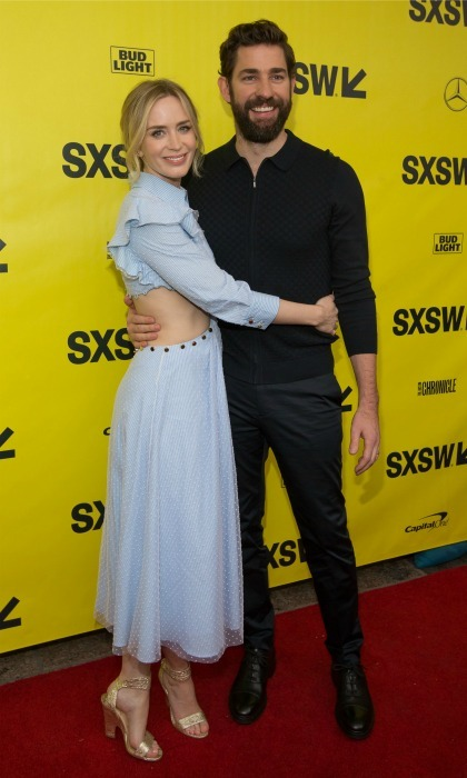 John Krasinski and Emily Blunt stepped out for a special red carpet together. The loved-up pair made an appearance at the 2018 SXSW Film Festival to premiere their upcoming thriller <i>A Quiet Place</i>, which co-stars the couple and was directed by John. Slated for an April 6 release, the film features John and Emily in their first non-animated flick together. 