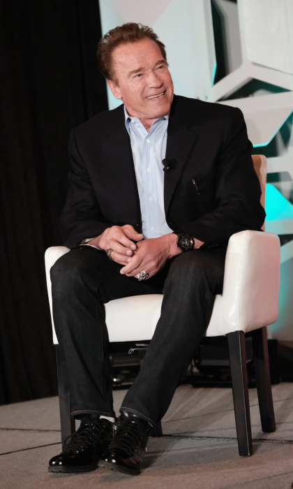 He'll be back! Arnold Schwarzenegger spoke onstage at POLITICO's Off Message conference during SXSW on March 11.