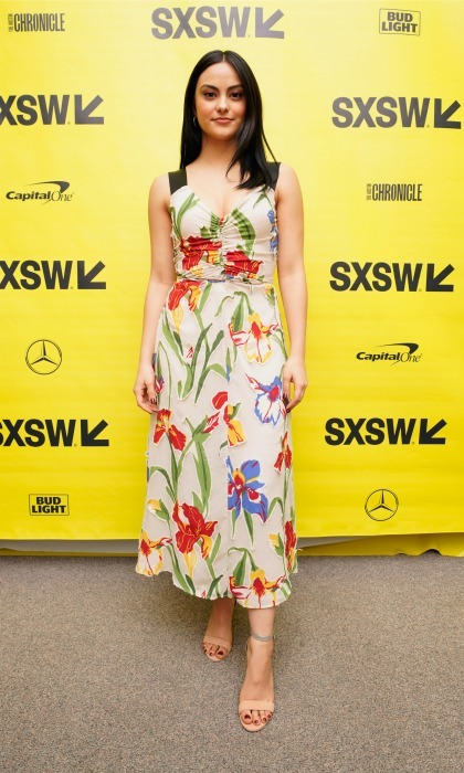 Camila Mendes stepped out of Riverdale to attend the SXSW premiere of <i>The New Romantic</i> at Stateside Theater on March 11. The actress looked pretty in a floral print dress.