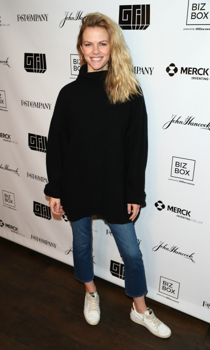 Dressed in casual chic attire, Brooklyn Decker struck a pose on the 8th annual Fast Company Grill during SXSW at Cedar Door Patio Bar and Grill on March 11. 