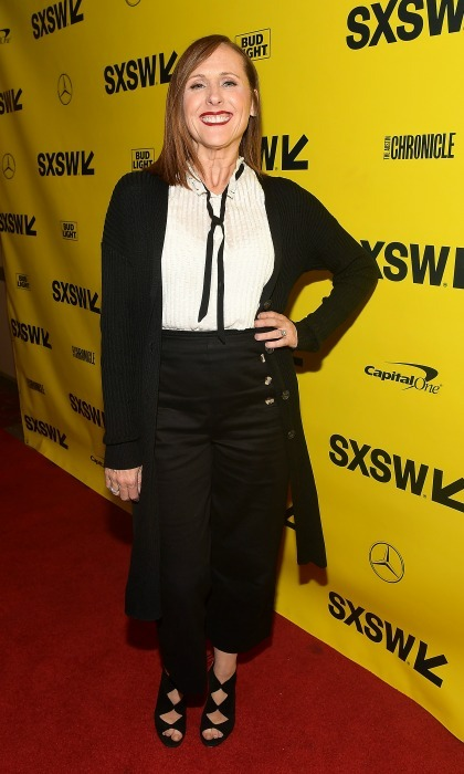Molly Shannon rocked an Annie Hall-esque number for the <i>Wild Nights With Emily</i> premiere at Paramount Theatre on March 11.