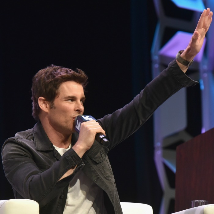 <i>Westworld</i> fans delighted when the cast took to the stage. James Marsden was one of the stars who spoke onstage at the Featured Session during SXSW at Austin Convention Center on March 10. 