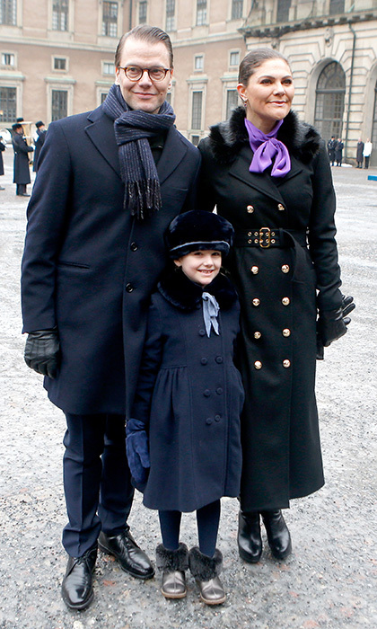 Prince Daniel supported wife Crown Princess Victoria of Sweden as she celebrated her name day at the Stockholm Royal Palace on March 12. But the couple had also brought along a little scene-stealer – their six-year-old daughter Princess Estelle!