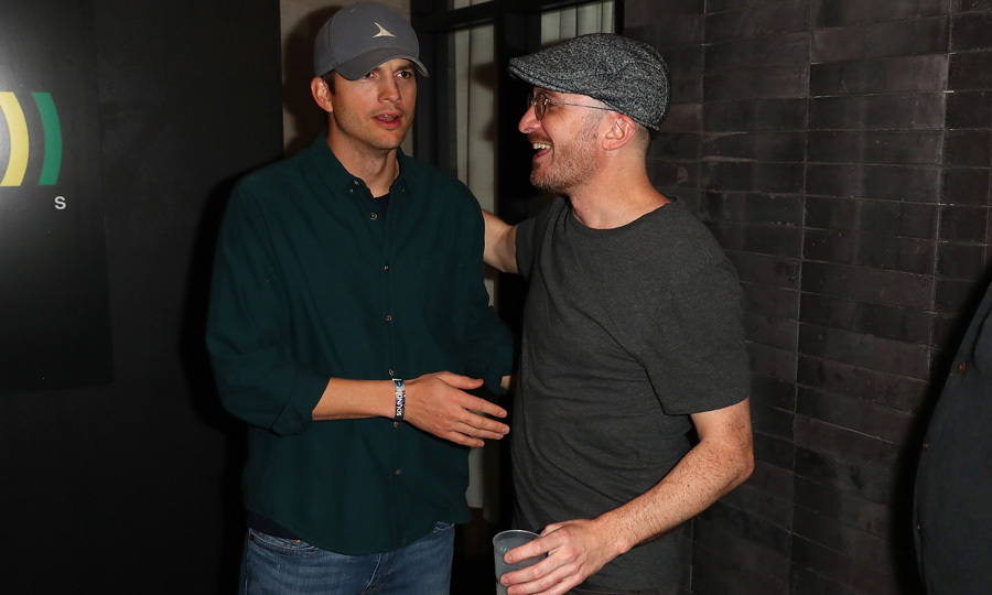 Ashton Kutcher (pictured here with Darren Aronofsky) threw 'The Party' with Sound Ventures partner Guy Oseary at the Hotel Van Zandt. Snoop Dogg deejayed, St. Vincent performed and guests enjoyed Casamigos Tequila cocktails.