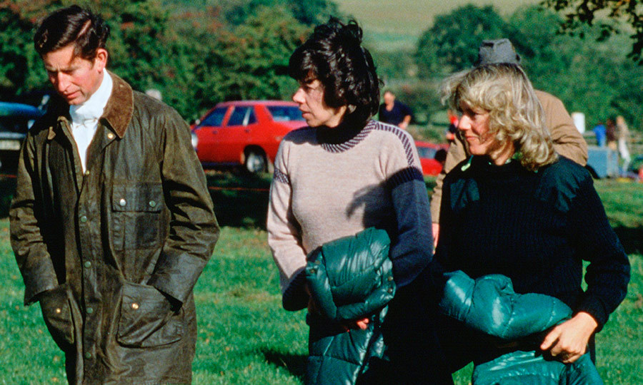 Prince Charles and Camilla remained in contact throughout the 1970s. Charles was godfather to Camilla's son Tom, born in 1975, and continued to see his former girlfriend and her new husband on the social scene and polo circuit. Here old pals Camilla and Charles are joined by their mutual friend Lady Sarah Keswick, center, in 1979.