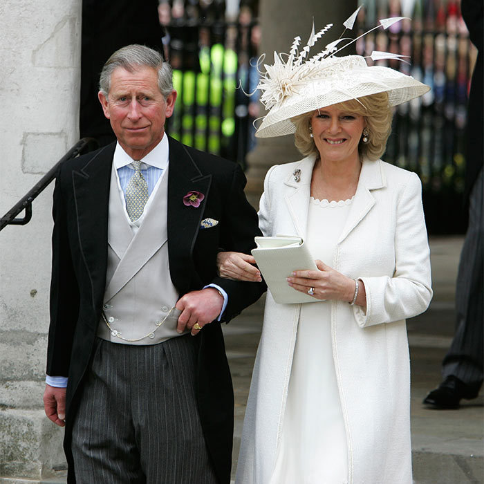 On April 9, 2005, the royals gathered at Windsor to celebrate the wedding as Camila Parker Bowles became Camilla, the Duchess of Cornwall. As crowds lined the streets, Prince Charles and his bride married in a civil ceremony at Windsor Guildhall, Berkshire.