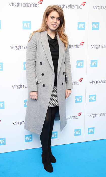 Eugenie's sister Princess Beatrice of York also stepped out for We Day UK at Wembley, in a monochrome look with printed miniskirt. 