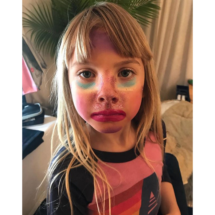 "Pink and Carey Hart's daughter Willow got extra glam for her mom's concert. Her dad shared this photo of the six-year-old with the caption: ""Willz make up for the St. Louis show ""
