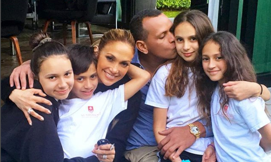 "Picture perfect! Jennifer Lopez and Alex Rodriguez cozied up for a tender family photo with their respective kids — Emme, Max, Ella and Natasha. The retired MLB star shared the sweet picture on his Instagram with the caption: ""Perfect day in #Miami with #OurGreatestGifts #Tashi #Ella #Max #Emme #Family #Blessed @jlo.""