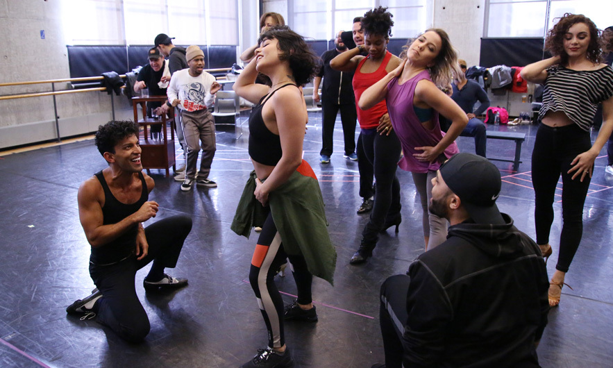 Warming up! Vanessa Hudgens showed off her moves during the Broadway Center Stage rehearsal for <i>In the Heights</i> on March 13 in NYC. The musical, created by Lin-Manuel Miranda, is set to celebrate ten years since the final curtain went down with a performance at the Kennedy Center in Washington, D.C. 