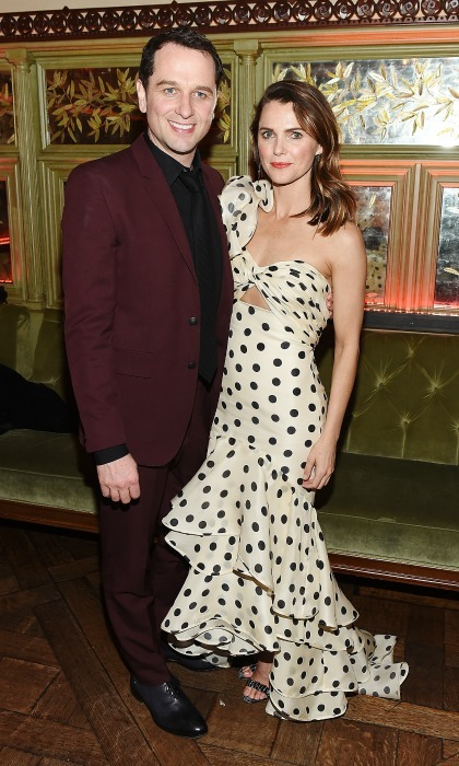 Matthew Rhys and Keri Russell celebrated <i>The Americans</i>'s season 6 premiere. The co-stars and real-life couple looked chic as they stepped out for the after-party event at Tavern On The Green on March 16 in New York City. 