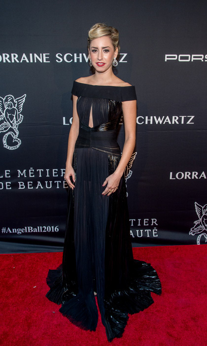 Jazmin exuded the glamour of her grandmother during the Angel Ball in November 2016 in NYC. Princess Grace's granddaughter wore a navy off-the-shoulder gown with a metallic sheen.