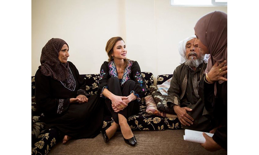 "Queen Rania visited Madaba on March 18, where she ""enjoyed a heartfelt conversation with the incredible women of Al Fayha' village.""