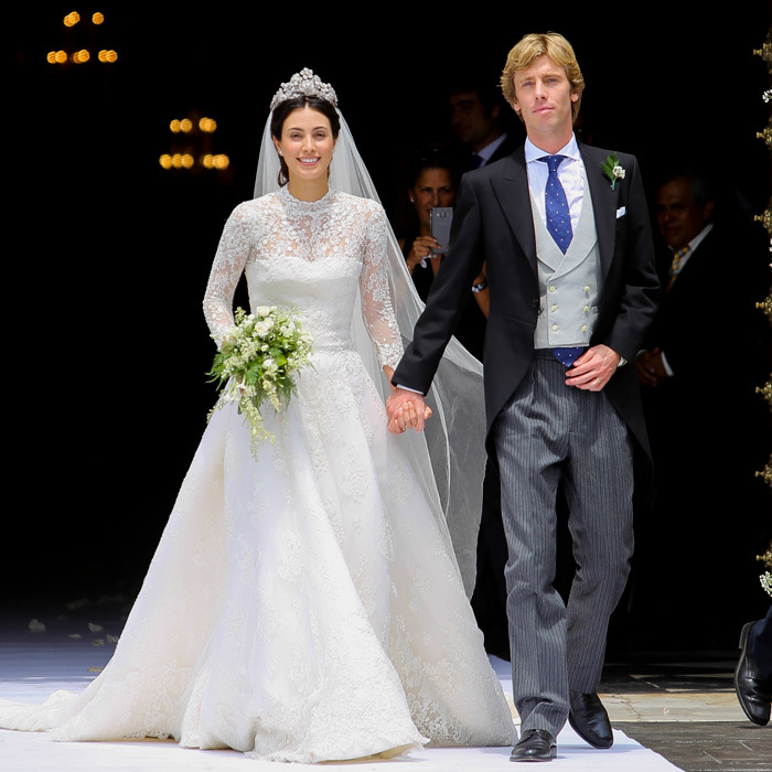 Prince Christian of Hanover and his wife Alessandra de Osma gathered family and friends for a second wedding in the bride's native Peru on March 16. The bride looked stunning wearing a gown by Spanish designer Jorge Vazquez for her religious ceremony held at Lima's St. Peter's Church.