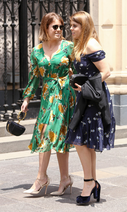 Future bride Princess Eugenie and her sister Princess Beatrice were two stylish guests at the royal wedding in Peru.
