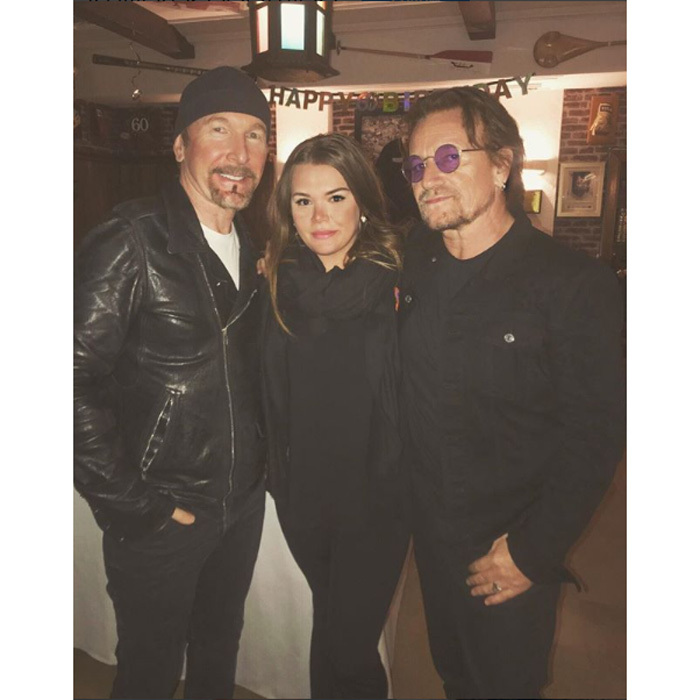 "Grace Kelly's granddaughter Camille Gottlieb — youngest child of Princess Stephanie of Monaco — posed for a photo with U2 members Bono and The Edge in Monaco. Attached to the photo, the teenager penned, ""It's a beautiful day, don't let it get away.""