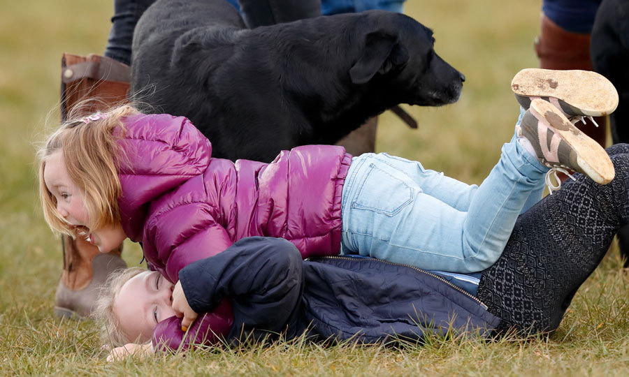 Mia always has a blast with her older cousins. During the Gatcombe Horse Trials at Gatcombe Park, the four-year-old and Savannah Phillips were inseparable. 