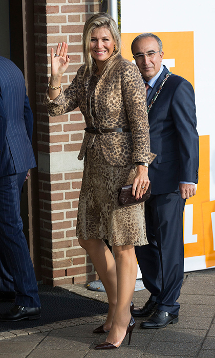 "Dutch <a href=""https://us.hellomagazine.com/tags/1/queen-maxima/""><strong>Queen Maxima</strong></a> is known for her fearless fashion, and she was looking grrr-eat in a leopard print skirt suit and stilettos for a visit to the the social employment agency Breed in the Netherlands in 2014.