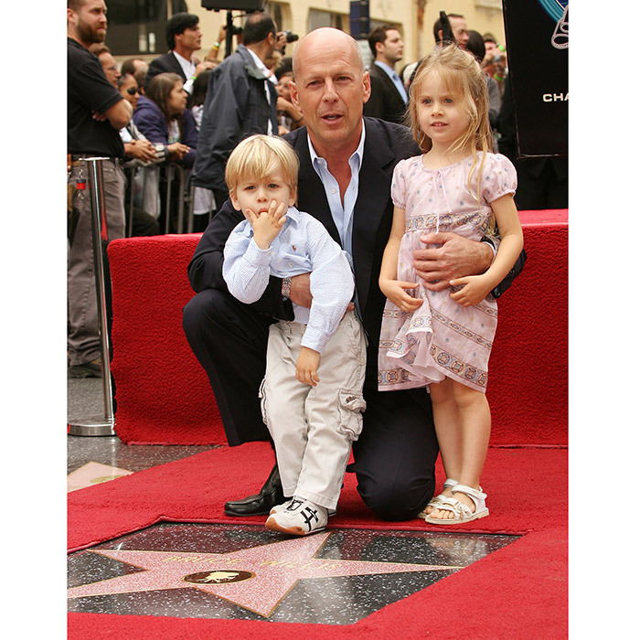 Bruce Willis was accompanied not just by his own children but also by his niece Sofia Willis and 2-year-old nephew Trajan Willis when he got his star in October 2006.
