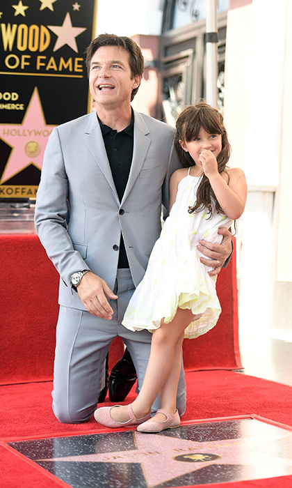 Jason Bateman couldn't have looked more sweet joined by his daughter Maple on the Hollywood Walk of Fame in July 2017.  