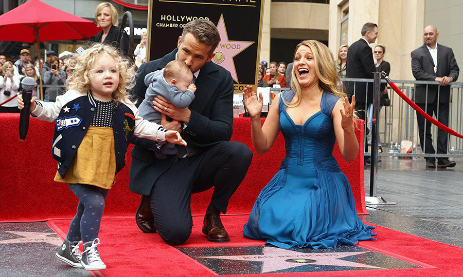 It was a very lively scene when Blake Lively and Ryan Reynolds brought their kids to the actor's moment in the sun in December 2016. While little Ines showed she was just a little bit sleepy in her father's arms, big sister James demonstrated she already has her mom and dad's star quality.